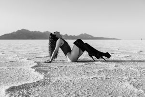 Edgy Salt Flat Boudoir Session